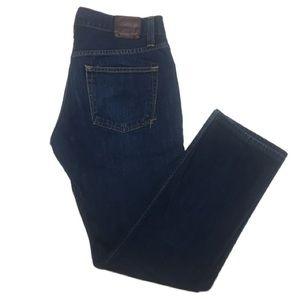 J Brand Kane Slim Straight Leg Raw Dark Wash Jeans